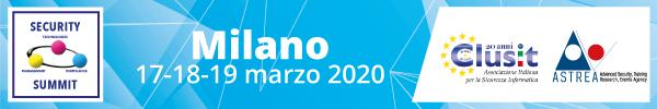 Security summit Milano - 18-19 marzo 2020