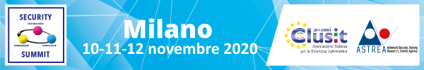 Security summit Milano 10-11-12 novembre 2020